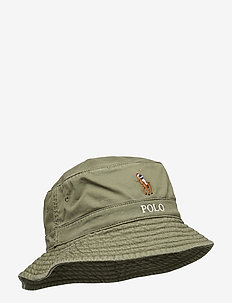 Stretch-Cotton Bucket Hat - bucket hats - army olive