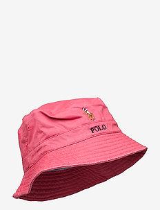 Stretch-Cotton Bucket Hat - bucket hats - nantucket red