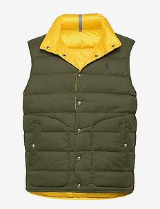 Reversible Down Vest - dark sage/ slicke