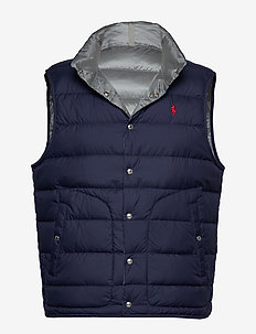 Reversible Down Vest - vests - newport navy/ sil