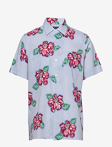 Classic Fit Seersucker Shirt - kortermede skjorter - 4587 hibiscus flo