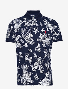 Custom Slim Fit Bear Polo - krótki rękaw - cruise navy bearw