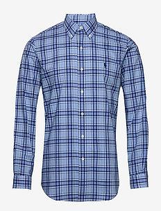 Custom Fit Striped Shirt - basic skjorter - 4508 baby blue/ro