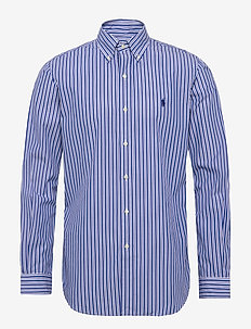 Custom Fit Striped Shirt - peruspaitoja - 4753a blue/white