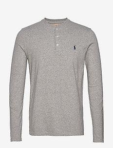 Slub Jersey Henley Shirt - DARK VINTAGE HEAT