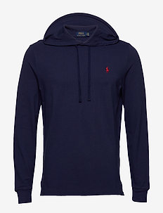 Cotton Mesh Hoodie - basic sweatshirts - newport navy/c387