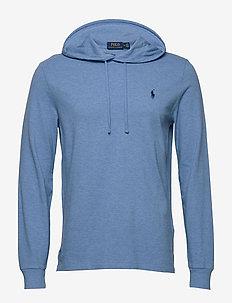 Cotton Mesh Hoodie - basic sweatshirts - soft royal heathe