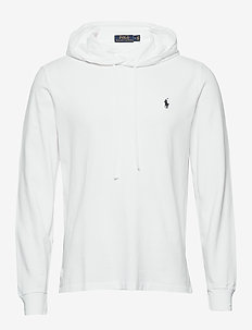 Cotton Mesh Hoodie - basic sweatshirts - white/c7996