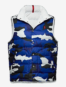 DENVER DOWN VEST - BLUE CAMO