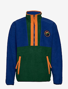 Fleece Half-Zip Pullover - NEW FOREST/SAPPHI