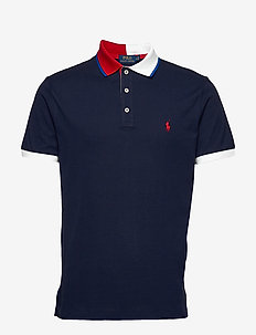 Custom Slim Fit Mesh Polo - krótki rękaw - cruise navy