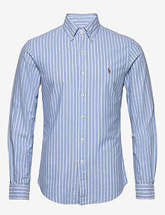 Slim Fit Striped Oxford Shirt - oxford-paidat - 4330a blue/white