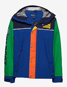 Graphic Water-Repellent Jacket - ROYAL MULTI