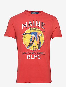 Custom Slim Fit T-Shirt - EVENING POST RED