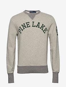 Fleece Graphic Sweatshirt - tops - light vintage hea