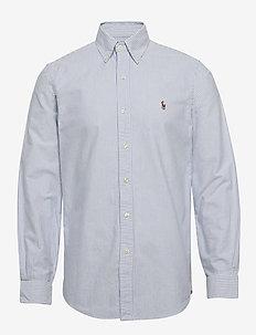 Custom Fit Oxford Shirt - BLUE/WHITE STRIPE