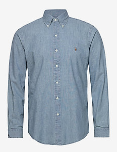 Custom Fit Chambray Shirt - peruspaitoja - chambray