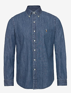 Custom Fit Denim Shirt - basic skjorter - denim