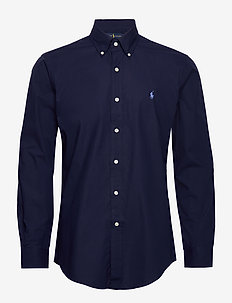 Custom Fit Poplin Shirt - NEWPORT NAVY