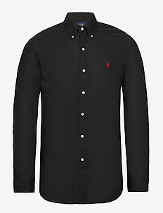 Custom Fit Poplin Shirt - basic shirts - polo black