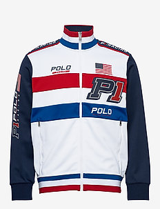 Double-Knit Track Jacket - tops - pure white multi