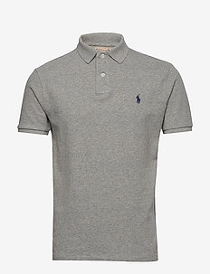 Custom Slim Fit Mesh Polo - DARK VINTAGE HEAT