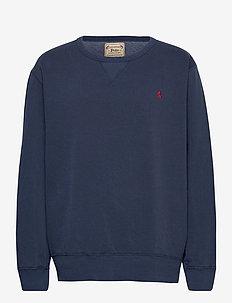 Garment-Dyed Fleece Sweatshirt - tops - cruise navy