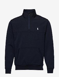 Hybrid Half-Zip Pullover - basic sweatshirts - aviator navy