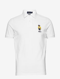 Custom Slim Fit Bear Polo - WHITE