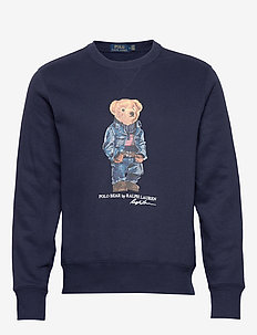 Denim Bear Fleece Sweatshirt - CRUISE NAVY