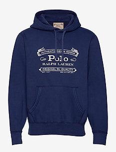 Fleece Graphic Hoodie - hoodies - cruise navy