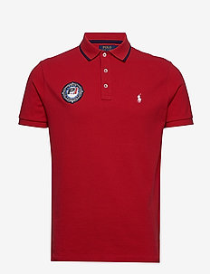 Custom Slim Fit Racing Polo - short-sleeved polos - rl 2000 red