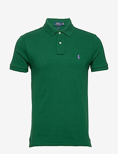 Slim Fit Mesh Polo Shirt - kortermede - new forest/c4649