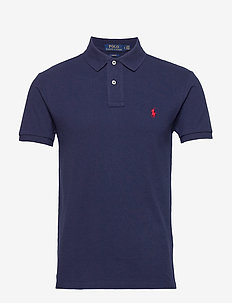 Slim Fit Mesh Polo Shirt - krótki rękaw - newport navy/c387