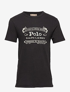 Custom Slim Fit Jersey T-Shirt - POLO BLACK