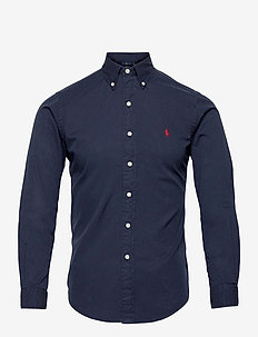 Custom Fit Garment-Dyed Twill Shirt - podstawowe koszulki - cruise navy
