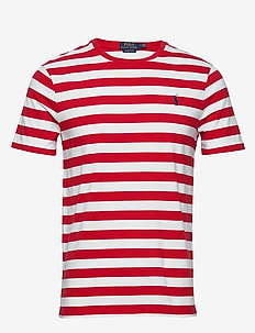 Custom Slim Striped T-Shirt - RL2000 RED /WHITE