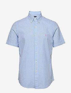 Custom Fit Seersucker Shirt - kortermede skjorter - 4578b light blue/