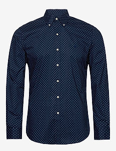 Slim Fit Dot Poplin Shirt - business shirts - 4511 executive do