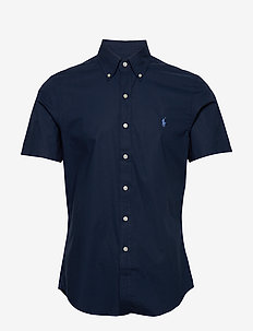 Slim Fit Poplin Shirt - newport navy