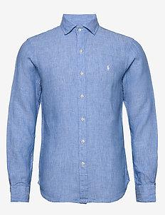 Slim Fit Linen Chambray Shirt - 4366A LIGHT BLUE