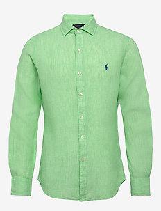 Slim Fit Linen Chambray Shirt - basic skjorter - 4366i bright gree