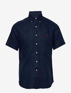 PIECE DYE LINEN-CUBDPPCSSS - basic skjorter - newport navy