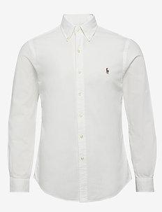 Slim Fit Chambray Shirt - WHITE