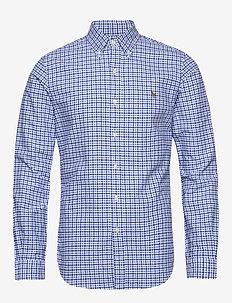Slim Fit Gingham Oxford Shirt - oxford-skjortor - 4517 blue/navy mu