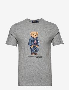 Custom Slim Fit Bear T-Shirt - ANDOVER HEATHER
