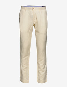 Slim Fit Linen-Blend Pant - chinos - andover cream