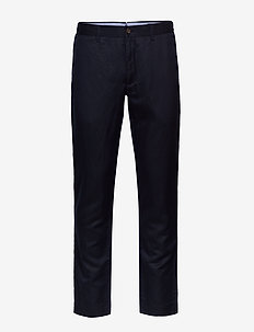 Slim Fit Linen-Blend Pant - chino's - aviator navy