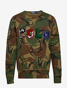 Polo Camo Fleece Sweatshirt - BRITISH ELMWOOD C