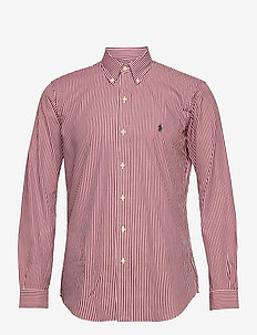 Custom Fit Striped Shirt - ternede skjorter - 4655b wine/white